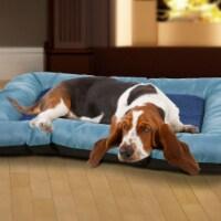 PETMAKER X-Large Plush Cozy Dog Pet Bed - Blue - 1