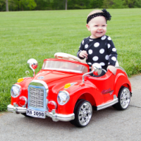 Red Cruisin' Coupe Battery Operated Classic Car with Remote Kids Plays MP3's Ages 2 - 4 - 1 unit