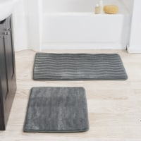 2 Piece Memory Foam Bath Mat Set by Lavish Home