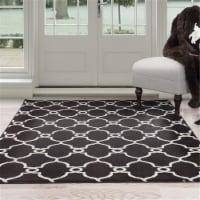 "Lavish Home Dark Brown/Ivory Lattice Area Rug (5' x 7'7"") - 1 unit"