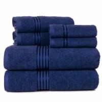 Lavish Home 100% Cotton Hotel 6-Piece Towel Set, Navy