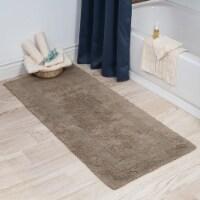 Lavish Home 100% Cotton Reversible Long Bath Rug - Taupe - 24x60 - 1 unit