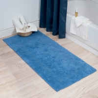 Lavish Home 100% Cotton Reversible Long Bath Rug - Blue - 24x60 - 1 unit