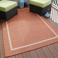 "Lavish Home Border Indoor/Outdoor Area Rug - Orange - 5'x7'7"""