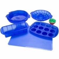Classic Cuisine Blue Silicone Bakeware Set, 18 Piece