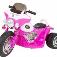 Trademark Global 90-YJ876P 3 Wheel Mini Motorcycle Trike for Kids - Police Car Pink