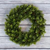 Pure Garden Boxwood Wreath - 12 inch Round Artificial Greenery Indoor Outdoor