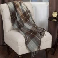 Lavish Home Cashmere-Like Blanket Throw - Brown - 1 unit
