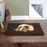 Petmaker 80-307226 25 x 18 in. Small & Medium Self Warming Thermal Crate Pad, Chocolate