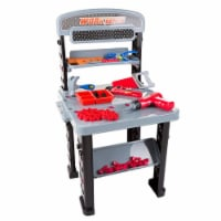 Hey Play 80-PP-1149970 75 Piece Pretend Play Tool Set & Adjustable Workbench - 75