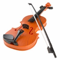 Hey Play 80-HM-336840 Battery-Operated Musical Toy Violin with Bow