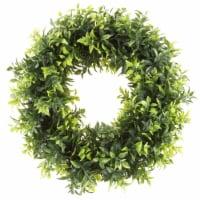 Artificial Opal Basil Leaf 11.5 inch Round Wreath by Pure Garden - 1 unit