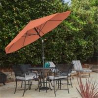 Pure Garden 50-100-TC 10 ft. Patio Table Umbrella with Easy Crank & Auto Tilt, Orange