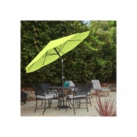 Pure Garden 50-100-LG 10 ft. Patio Table Umbrella with Easy Crank & Auto Tilt, Green