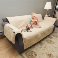 Petmaker 80-PET5075 100 Percent Waterproof Protector Cover for Couch & Sofa - Tan