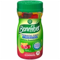 Benefiber Prebiotic Fiber Assorted Fruit Flavor Dietary Supplement Gummies