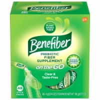 Benefiber On The Go Prebiotic Fiber Supplement Stick Packs