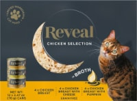 Reveal Grain Free Chicken Selection in Broth Wet Cat Food