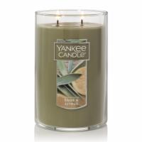 Yankee Candle® Sage & Citrus Pillar Candle - Gray - 12 oz
