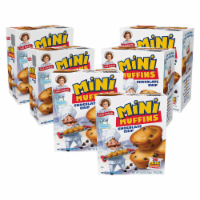 Choc Chip Mini Muffins, 6 Boxes, 30 Travel Pouches of Bite Size Muffins - 30