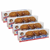 Little Debbie Oatmeal Creme Pies, 4 Boxes, 48 Soft Oatmeal Cookies with Creme - 48