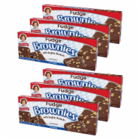 Little Debbie Fudge Brownies with Walnuts, 6 Boxes, 36 Individually Wrapped Brownies - 36