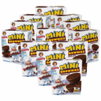 Little Debbie Mini Brownies, 12 Boxes, 60 Travel Pouches of Bite Size Chocolate Brownies - 60