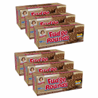 Fudge Rounds Big Pack, 6 Boxes, 72 Individually Wrapped Chocolate Sandwich Cookies - 72