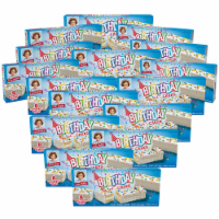 Birthday Cakes, 16 Boxes, 128 Individually Wrapped Vanilla Cakes with Candy Confetti - 128