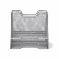 Mind Reader 5 Compartments Desk Organizer Tray - Silver - 1 ct