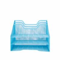 Mind Reader 5 Compartments Desk Organizer Tray - Blue - 1 ct