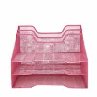 Mind Reader 5 Compartments Desk Organizer Tray - Pink