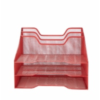 Mind Reader 5 Compartments Desk Organizer Tray - Red - 1 ct