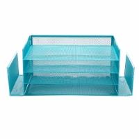 Mind Reader 6-Compartment Desk Organizer - Turquoise - 1 ct
