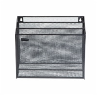 Mind Reader 3-Tier Mesh Free Standing and Wall File Holder - Black - 1 ct