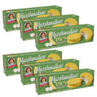 Banana Marshmallow Pies, 6 Boxes, 48 Banana Flavored Cookies With Marshmallow Filling - 48