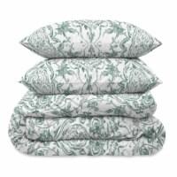 Martha Stewart Gabrielle Damask Comforter Set - 3 Piece