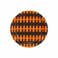 BuySeasons 258378 Halloween Black & Orange Print Dessert Plate - 8 Piece - 8