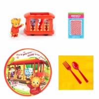 Birthday Express 260422 Daniel Tigers Neighborhood Tableware & Cake Topper Kit, Multicolor - 1