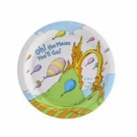 Birthday Express 260459 Dr. Seuss Oh The Places Youll Go Dessert Plate - Size 8