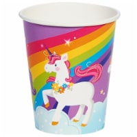 Buyseasons 263848 9 oz Fairytale Unicorn Party Paper Cup - Pack of 48 - 1