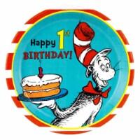 BuySeasons 263860 Dr. Seuss 1st Birthday Dinner Plates - 48 Piece