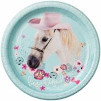 BuySeasons 264138 Rachael Hale Beautiful Horse Dinner Plates - 8 Piece - 8