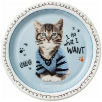 BuySeasons 264115 Rachael Hale Cats Rule Dessert Plates - 8 Piece