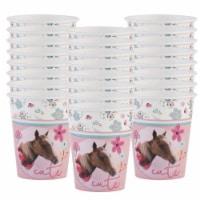 BuySeasons 265025 9 oz Rachael Hale Beautiful Horse Paper Cups - 24 Piece - 24