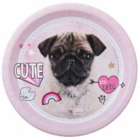 BuySeasons 265026 Rachael Hale Dog Love Dinner Plates - 16 Piece - 16