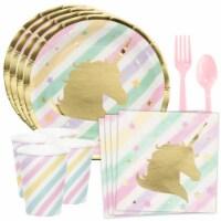 Birth9999 624179 Unicorn Sparkle Standard Tableware Kit - Serves 8