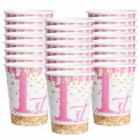 BirthdayExpress 304979 9 oz Royal Princess 1st Birthday Cups - 24 Piece