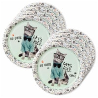BirthdayExpress 305017 Rachael Hale Cats Rule Lunch Plates - 24 Piece