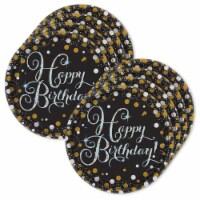BirthdayExpress 305233 Sparkling Celebration Happy Birthday Lunch Plates - 24 Piece - 24